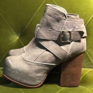 Never worn Jeffrey Campbell suede platform boots